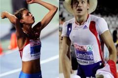 Christophe Lemaitre y Blanka Vlasic, atletas europeos del año
