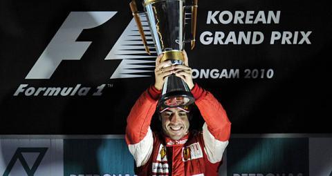 Alonso en el GP de Corea