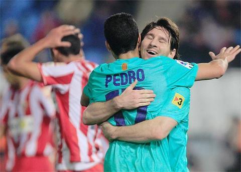 El Barcelona goleo al Almeria