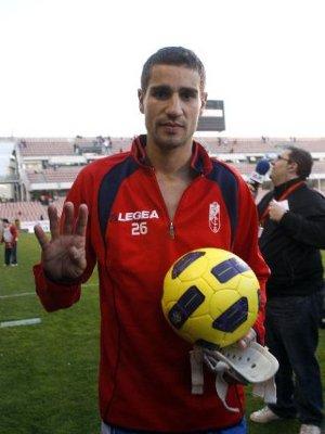 El delantero del Granada Geijo marcó 4 goles