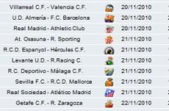 Liga Española 2010/11 1ª División: horarios y retransmisiones de la Jornada 12 con Almería-Barcelona y Real Madrid-Athletic