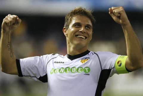 Joaquin marco en la goleada del Valencia al Bursaspor