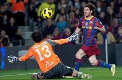 Liga Española 2010/11 1ª División: Messi coloca al Barcelona como líder provisional