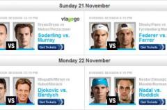 Torneo de Maestros 2010 (horarios): Ferrer debuta el domingo ante Federer y Nadal lo hará el lunes ante Roddick