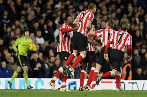 El Sunderland gano a domicilio al Chelsea