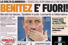 Rafa Benítez incendia el Inter de Milán con sus declaraciones y podría ser destituido en breve