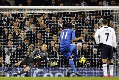 Drogba fallo un penalti en el ultimo minuto