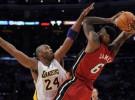 NBA: un triple doble de Lebron James conduce a Miami Heat a la victoria ante Los Ángeles Lakers
