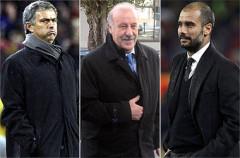Vicente Del Bosque, Pep Guardiola y José Mourinho optan al galardón de Mejor Entrenador del Año