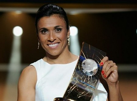 La brasileña Marta es la mejor jugadora del mundo