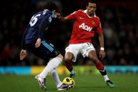 Nani dirigio al Manchester United