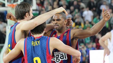 Regal Barcelona gano en la pista de Union Olimpija