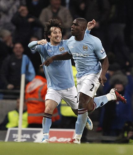David Silva en el partido del Manchester City en la FA Cup