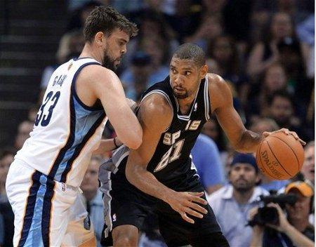 Marc Gasol está anulando a Tim Duncan en los playoffs de la NBA