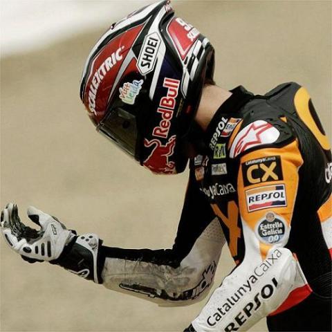 Marc Marquez se cayo en Jerez