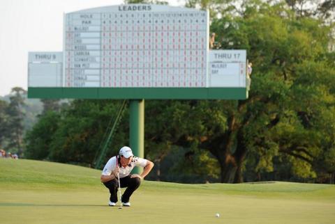 Rory McIlroy en el Masters de Augusta 2011