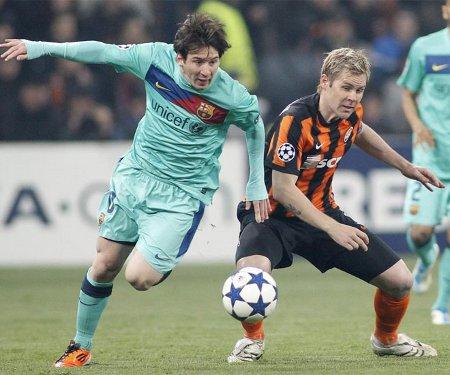 Messi marcó el gol de la victoria del Barcelona frente al Shakhtark