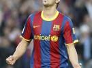 Liga Española 2010/11 1ª División: Villa y Messi marcan ante Osasuna y acercan al F.C. Barcelona al título