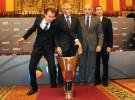 Euroliga Final Four Barcelona 2011: entrenadores y jugadores acudieron al acto de presentación del torneo