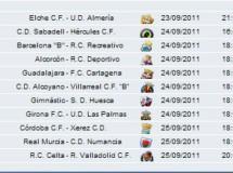 Liga Española 2011/12 2ª División: previa, horarios y retransmisiones de la Jornada 6