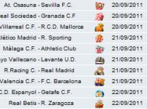 Liga Española 2011/12 1ª División Jornada 5: horarios y retransmisiones con Valencia-Barcelona y Racing-R. Madrid