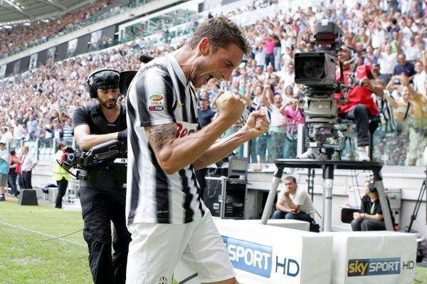Marchisio celebra un gol de la Juventus de Turín