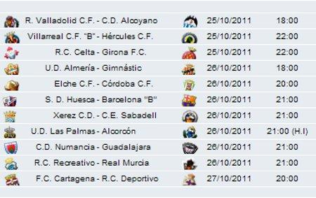 Horarios Jornada 1 Segunda División