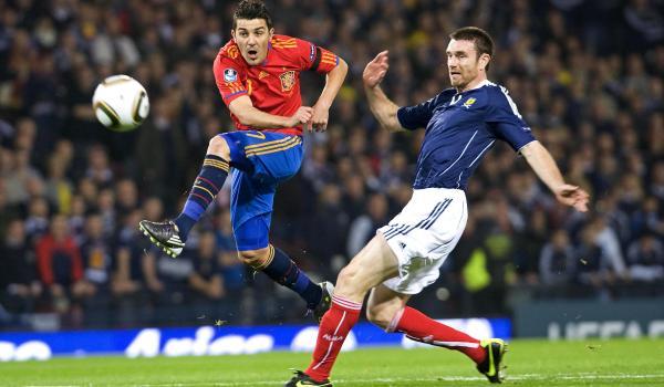 Clasificación Eurocopa 2012: España gana a Escocia y  Silva se luce con dos goles y una asistencia