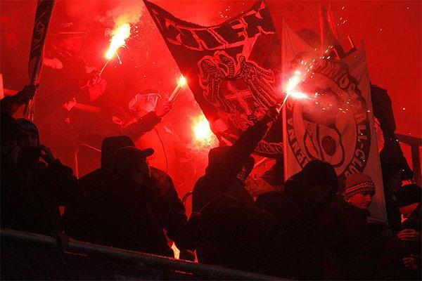 Los ultras del Austria Viena ya han provocado varios altercados