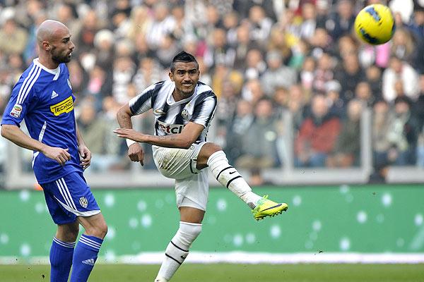 El chileno Vidal anotó uno de los goles de la Juventus