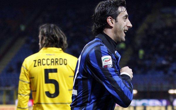 El delantero argentino Diego Milito, jugador del Inter de Milán