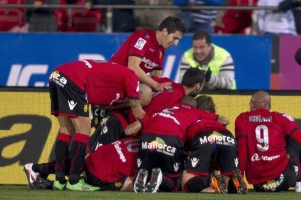 El Mallorca celebra su gran victoria ante la Real Sociedad
