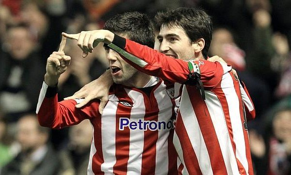 Susaeta e Iraola, jugadores del Athletic de Bilbao