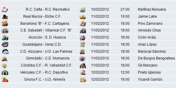 Horarios Segunda División Jornada 24