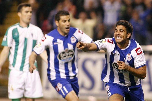 Aythami marcó el gol de la victoria del Deportivo