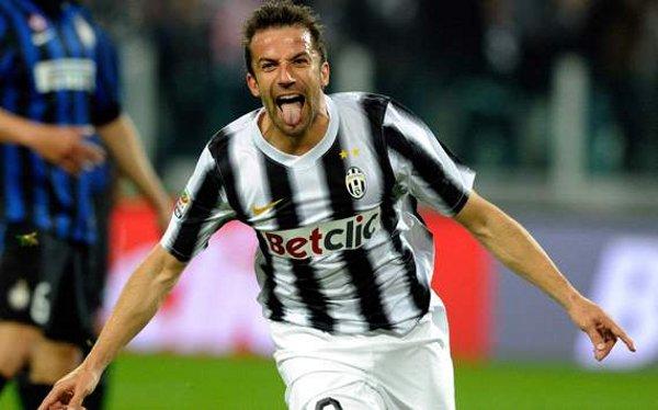 Del Piero se reencontró con el gol ante el Inter de Milán