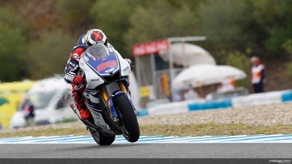 Lorenzo in action en el Circuito de Jerez