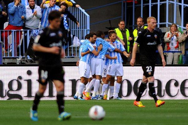 El Málaga dio un gran paso para jugar la Liga de Campeones
