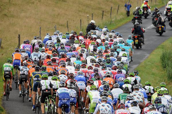 Pelotón en el Tour de Francia