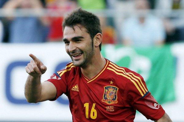 Adrián debutó con la selección absoluta marcando un gol
