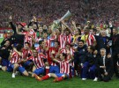 Europa League 2011/12: el Atlético de Madrid, campeón tras ganar 3-0 al Athletic de Bilbao