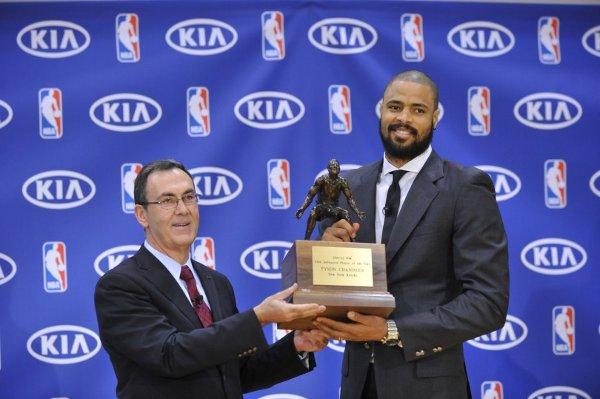 NBA: Tyson Chandler, jugador defensivo del año 2012