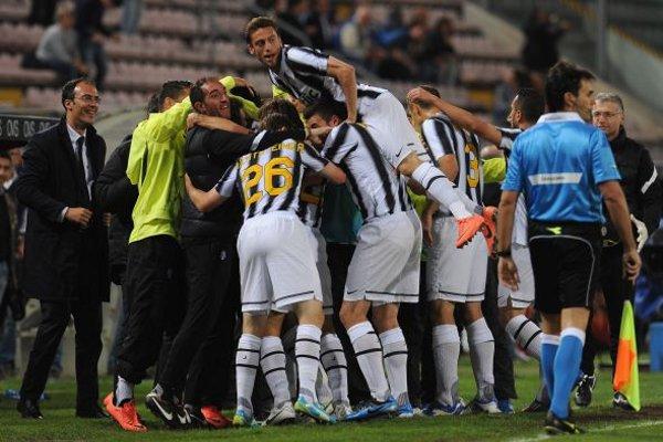 La Juventus celebra el Scudetto