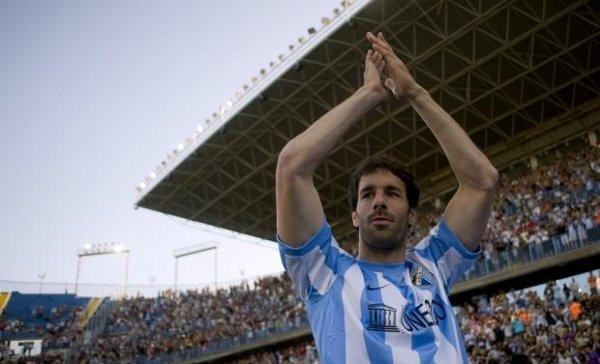 Van Nistelrooy, cuando fue presentado con el Málaga