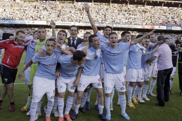Celta de Vigo celebra ascenso a Primera División
