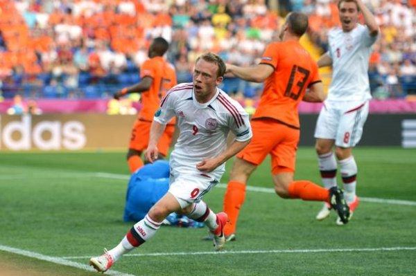 Krohn-Dehli marcó el gol de la victoria para Dinamarca ante Holanda