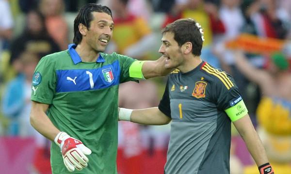 Gianluigi Buffon e Iker Casillas, el gran duelo de la final de la Eurocopa