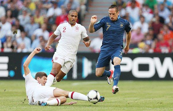 Ribery fue el jugador francés que más lo intentó ante Inglaterra