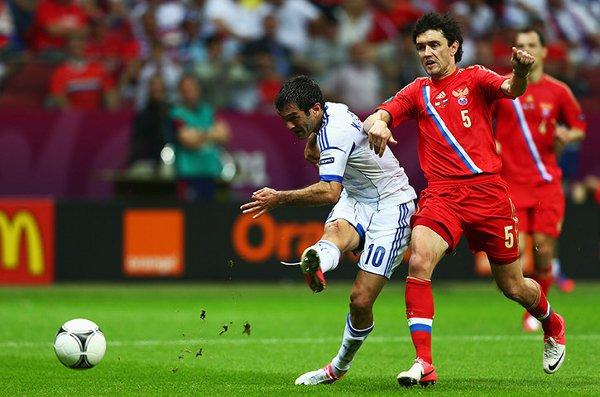 Grecia, con un gol de Karagounis, ha eliminado a Rusia