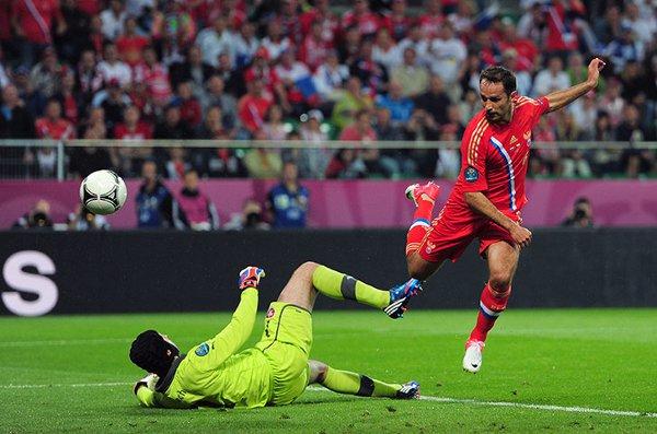 Shirokov marcó el segundo tanto para Rusia